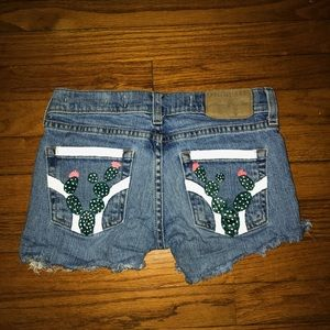 Hollister Painted Cactus Shorts